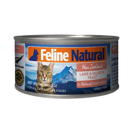K9猫Feline Natural天然无谷猫罐-羊肉&三文鱼 85g