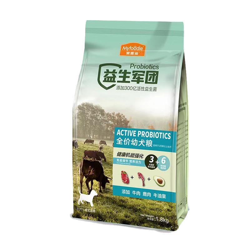麦富迪 机能强化益生军团全价犬用奶糕粮1.8kg 1.8kg