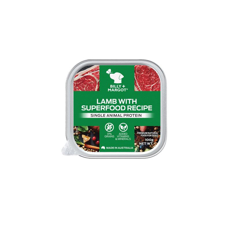 Billy+Margot比利玛格 犬用羊羔肉搭配超级食材餐盒100g 100g
