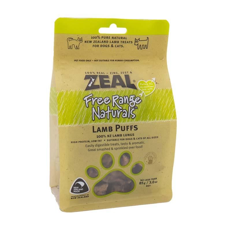 ZEAL羊肉类宠物零食犬用风干羊肺粒85g 1袋