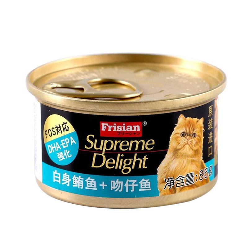 富力鲜猫用白身鲔鱼+吻仔鱼罐头 85g 白身鲔鱼+吻仔鱼 85g