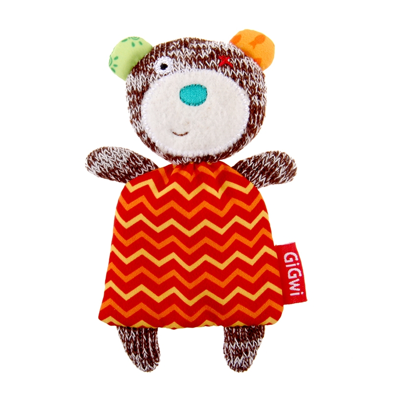 GiGwi贵为 毛绒玩具造型猫草吐毛球填充猫玩具 猫草小熊 1个