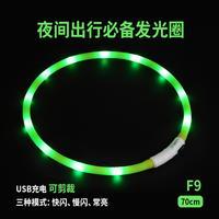 莱诺-夜间出行必备可发光可裁剪项圈 F9(黄绿色)