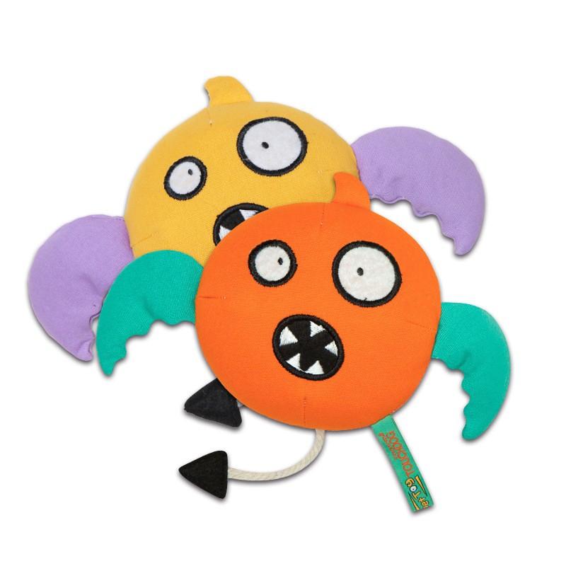 Touchdog它它 宠物毛绒玩具 磨牙耐咬狗狗 小怪兽狗玩具 橙色
