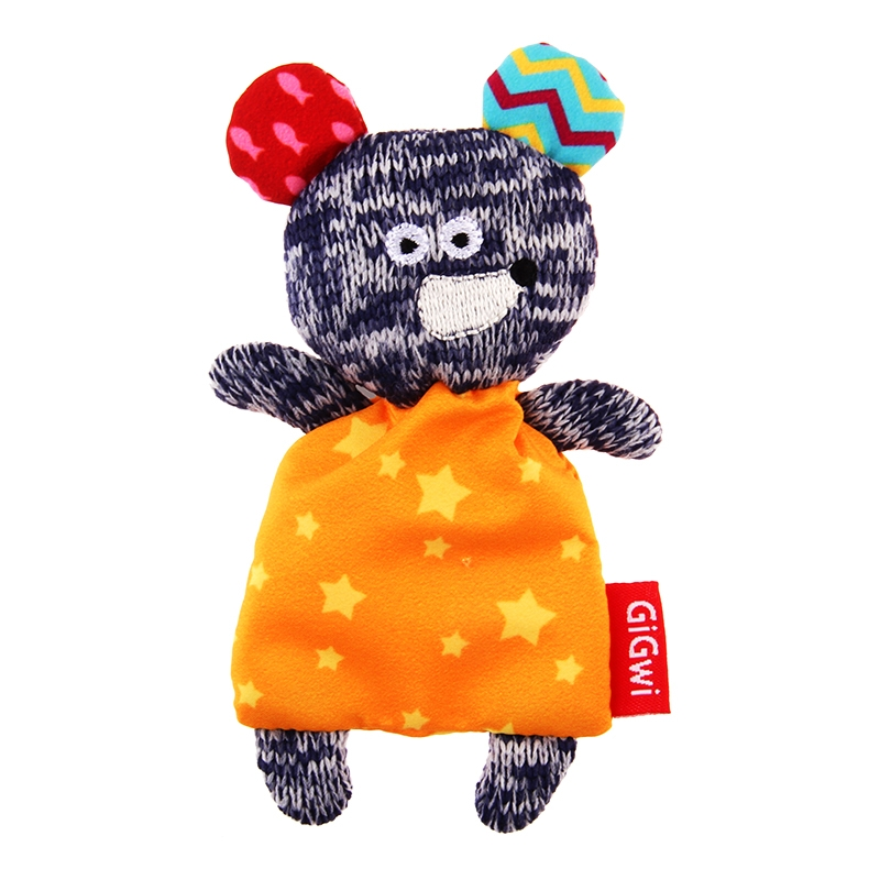 GiGwi贵为 毛绒玩具造型猫草吐毛球填充猫玩具 猫草小熊 猫草老鼠