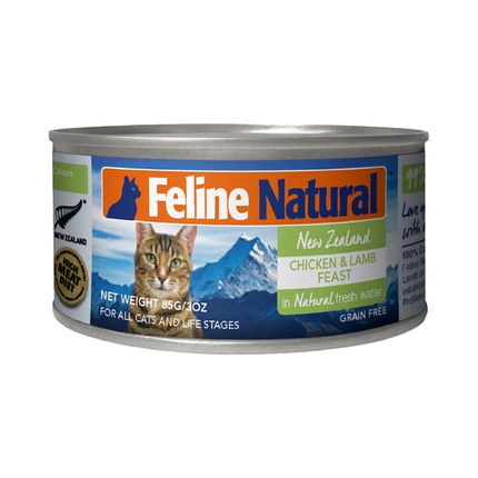 K9猫Feline Naturl 天然无谷猫罐-鸡肉&羊心 85g