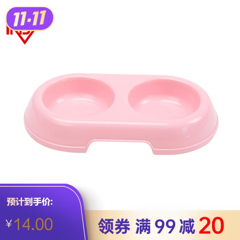 爱丽思PT-300双口食钵系列粉色 个