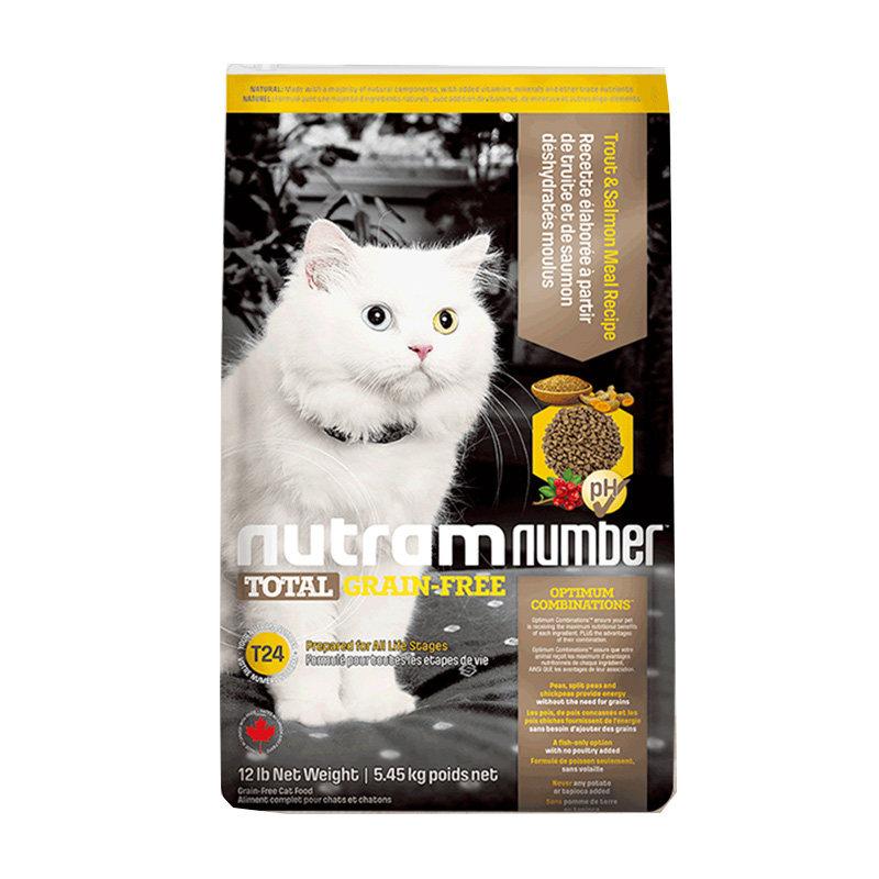 纽顿无谷T24全龄猫 去骨鳟鱼+三文鱼 5.45kg