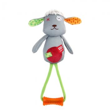 GiGwi 贵为狗狗玩具球发声玩具训练玩具橡胶磨牙耐咬宠物玩具互动 拉手毛绒羊