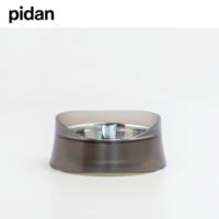 pidan火山款 磨砂可拆分 宠物防溢碗 半透灰