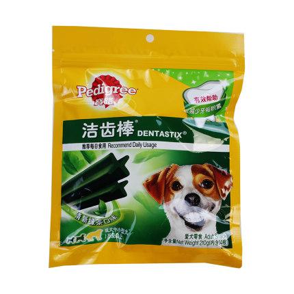 宝路 成犬中小型犬洁齿棒 清新绿茶 宠物零食 210g 210g