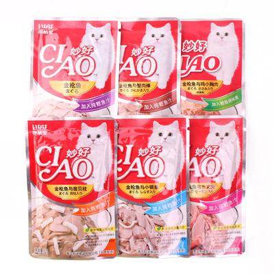 伊纳宝 妙好全价成猫粮 湿粮鲜封包60g/袋 多口味可选 金枪鱼配方(鲣鱼味)