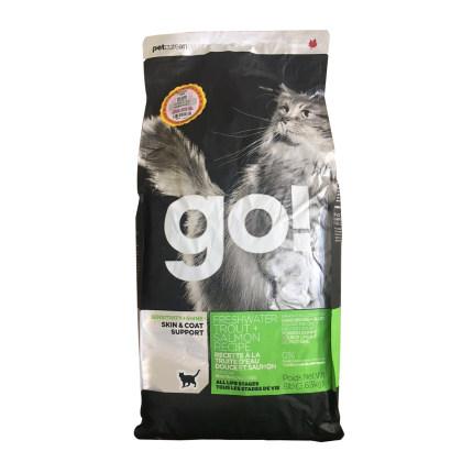Go! 低敏美毛系列无谷三种鱼全猫粮 多规格可选 三种鱼全猫粮8磅