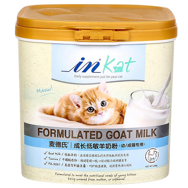 麦德氏IN-KAT成长低敏羊奶粉(幼/成猫专用)280g