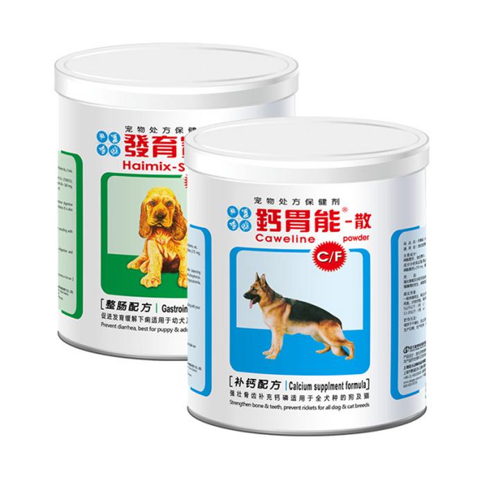 信元发育宝 狗狗钙胃能整肠护理套装 350g+450g