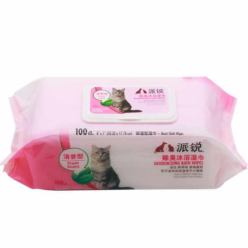 派锐猫用除臭沐浴湿巾