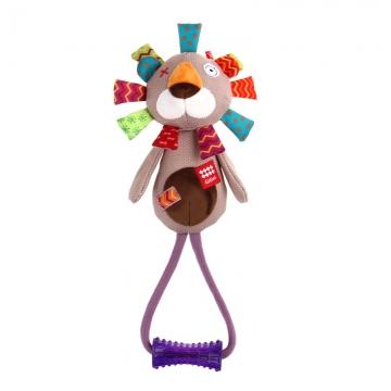 GiGwi 贵为狗狗玩具球发声玩具训练玩具橡胶磨牙耐咬宠物玩具互动 拉手毛绒狮子