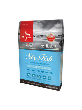 加拿大Orijen渴望猫粮六种鱼5.4kg 1袋