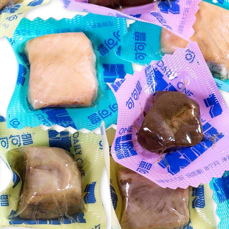 句句兽(JUJUKONG)大力玩 犬猫通用 新鲜宠物零食 猫咪狗狗湿粮12粒装 鸭肉三文鱼牛肝
