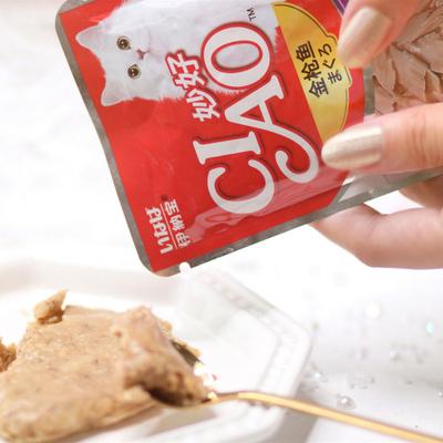 伊纳宝 妙好全价成猫粮 湿粮鲜封包60g/袋 多口味可选 金枪鱼与小银鱼配方(鲣鱼味)