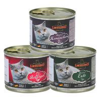 德国进口小李子猫罐头Leonardo无谷主食猫罐 (兔1+禽1+鸭1) 200g*3罐