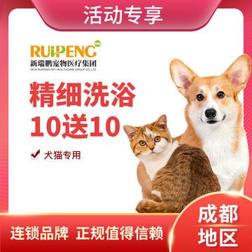 【成都活动】犬猫 - 精细洗浴买10送10 长毛猫:2-5kg