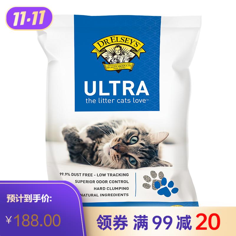 埃尔西博士 多猫强效  40磅猫砂(蓝标) 40磅