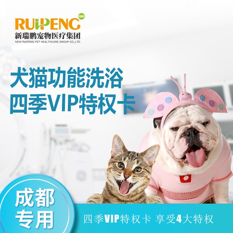 【成都】犬猫 功能洗浴四季VlP卡 长毛猫0-2kg