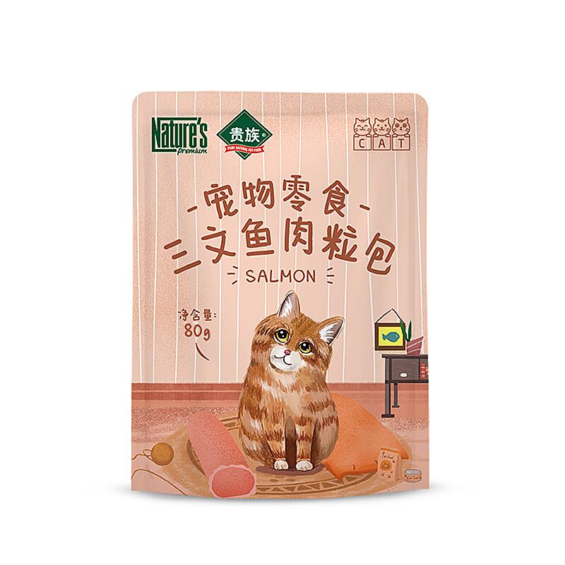 贵族 猫用三文鱼肉粒包 80g/袋