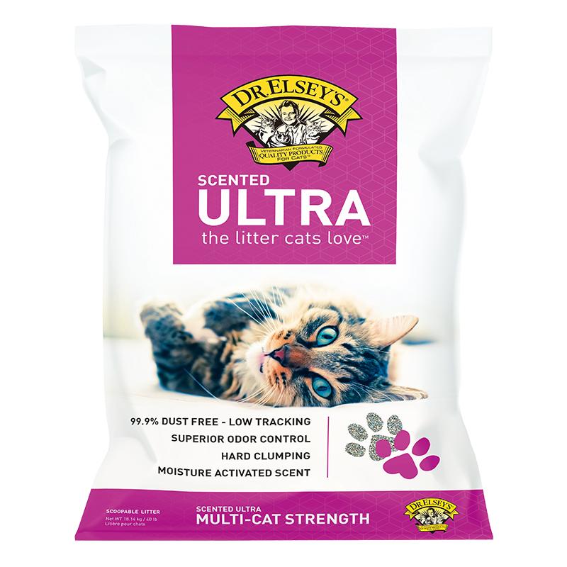 埃尔西博士 多猫释香  40磅猫砂(紫标) 40磅
