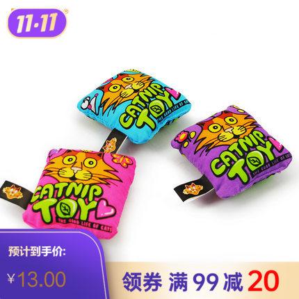 田田猫 有机薄荷抱枕 猫玩具 紫色
